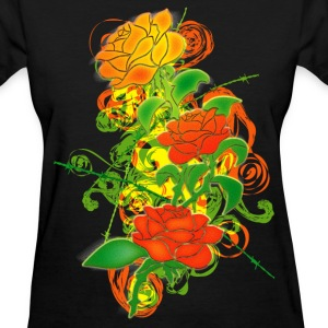 Colored_Roses - Women's T-Shirt