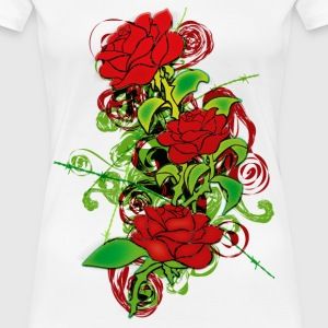 Colored_Roses - Women's Premium T-Shirt