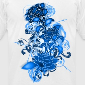 Cold_Roses - Men's T-Shirt by American Apparel