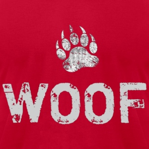 Gay Bear Pride distressed Bear Paw WOOF - Men's T-Shirt by American Apparel