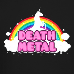 DEATH METAL! (Funny Unicorn / Rainbow Mosh Parody Long Sleeve Shirts - Crewneck Sweatshirt