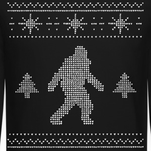 Men's Bigfoot Ugly Christmas Sweater - Crewneck Sweatshirt