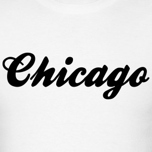chicago retro college style logo t-shirt - Men's T-Shirt