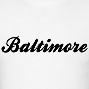 baltimore retro college style logo t-shirt - Men's T-Shirt