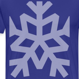 Snowflake on Blue - Men's Premium T-Shirt