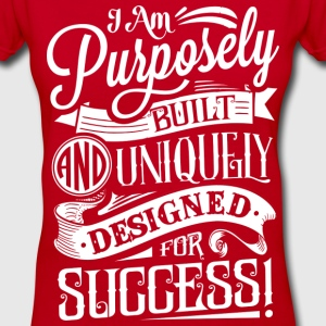 Women's Purpose Tee- Red - Women's V-Neck T-Shirt