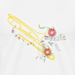 gold trombone flowers - Men's Premium T-Shirt