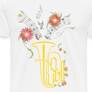 Flower Tuba - Men's Premium T-Shirt