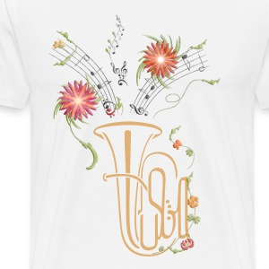 Tuba flowers - Men's Premium T-Shirt