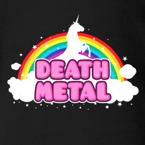 DEATH METAL! (Funny Unicorn / Rainbow Mosh Parody Baby Bodysuits - Short Sleeve Baby Bodysuit