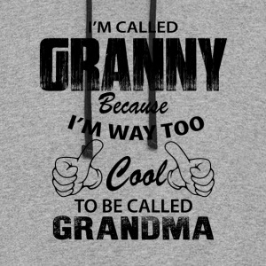 I'm Called Granny Because I'm Way Too Cool To Be  Hoodies - Colorblock Hoodie