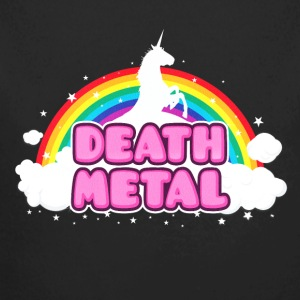 DEATH METAL! (Funny Unicorn / Rainbow Mosh Parody Baby Bodysuits - Long Sleeve Baby Bodysuit