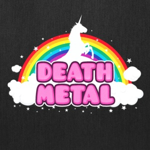 DEATH METAL! (Funny Unicorn / Rainbow Mosh Parody Bags & backpacks - Tote Bag