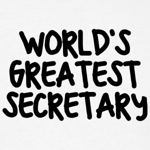 worlds greatest secretary t-shirt - Men's T-Shirt