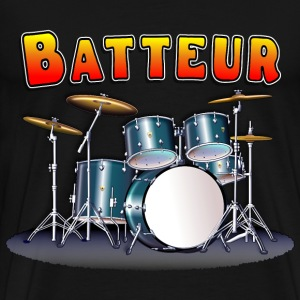 Drum Set Batteur - Men's Premium T-Shirt
