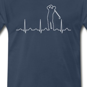 Golfer's Heartbeat - Men's Premium T-Shirt