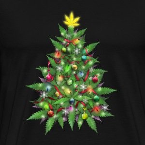 Marijuana Christmas Tree T-Shirts - Men's Premium T-Shirt