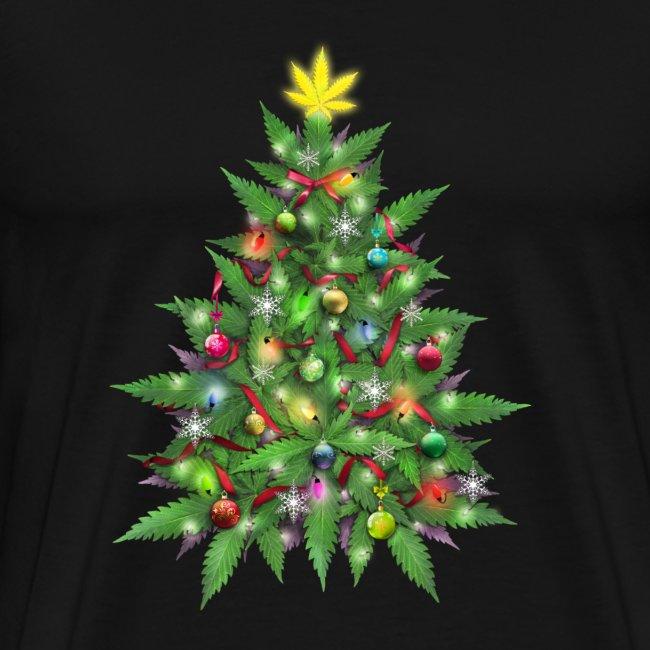 Weed Tees | Marijuana Christmas Tree - Mens Premium T-Shirt