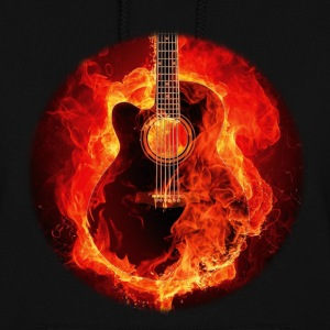 Guitar on Fire Hoodies - Women's Hoodie