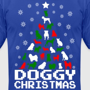 Doggy Christmas Tree T-Shirts - Men's T-Shirt by American Apparel