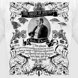 Charles Darwin Origin of Species - Men's T-Shirt by American Apparel