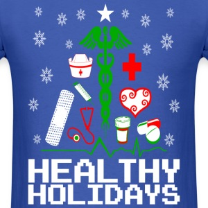 Healthy Holidays Nurse T-Shirts - Men's T-Shirt
