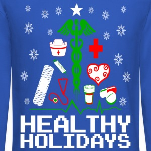 Healthy Holidays Nurse Long Sleeve Shirts - Crewneck Sweatshirt