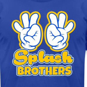 Splash Brothers funny saying - Men's T-Shirt by American Apparel