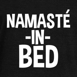 Namaste in Bed Funny - Women's Wideneck Sweatshirt