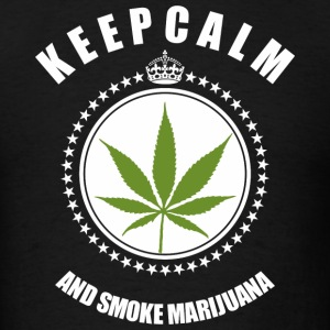 Keep Calm And Smoke Marijuana - Men's T-Shirt