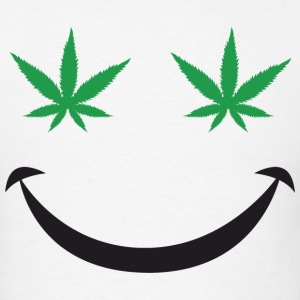 Marijuana Smiley - Men's T-Shirt