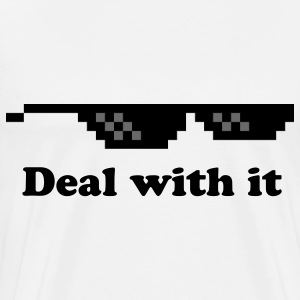 Deal with it T-shirt - Men's Premium T-Shirt