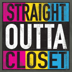 Straight Outta Closet Pansexual LGBT Pride Grunge T-Shirts - Men's T-Shirt by American Apparel