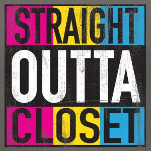 Straight Outta Closet Pansexual LGBT Pride Grunge Women's T-Shirts - Women's V-Neck T-Shirt