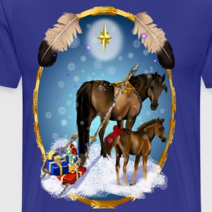 Christmas Mare and Colt - Men's Premium T-Shirt