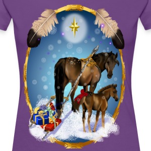 Christmas Mare and Colt - Women's Premium T-Shirt