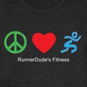 Peace Love Run - Unisex Tri-Blend T-Shirt by American Apparel