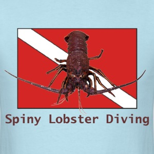 Spiny Lobster Diving - Men's T-Shirt
