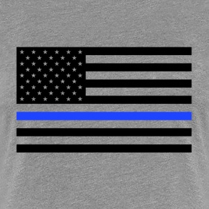 Thin Blue Line USA Flag - Women's Premium T-Shirt