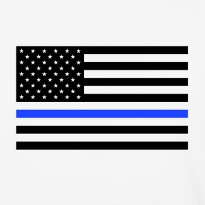 Thin Blue Line USA Flag - Baseball T-Shirt
