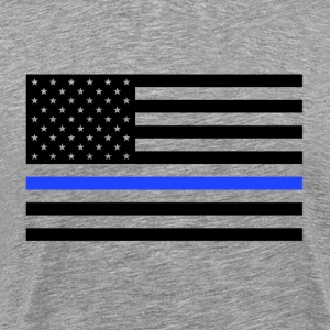 Thin Blue Line USA Flag - Men's Premium T-Shirt