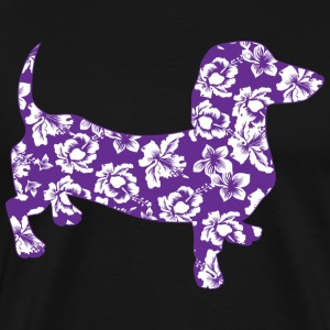 Purple Hawaiian Dachshund - Men's Premium T-Shirt