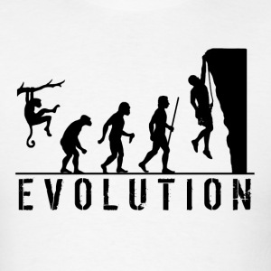 Funny Evolution Rock Climbing T Shirt - Men's T-Shirt