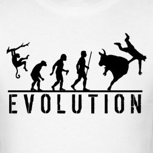 Bull Riding Evolution - Men's T-Shirt