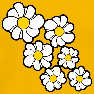flower pattern design yellow white daisy buttercup T-Shirts - Men's Premium T-Shirt