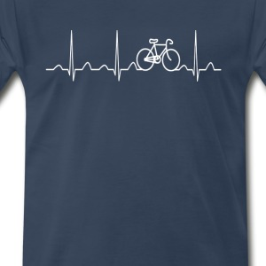BICYCLE HEARTBEAT - Men's Premium T-Shirt