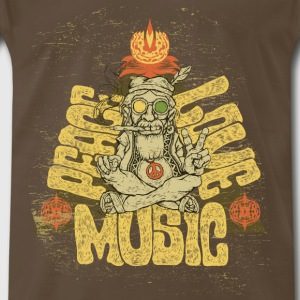 Peace, Love, Music - Men's Premium T-Shirt