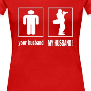 MY HUSBAND - PHOTOGRAPHER - Women's Premium T-Shirt