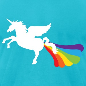Pegacorn Winged Unicorn Rainbow LGBT T-Shirts - Men's T-Shirt by American Apparel