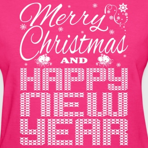 Merry Christmas Happy New Year Women's T-Shirts - Women's T-Shirt